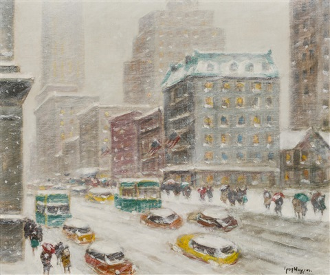 looking down fifth avenue by guy carleton wiggins