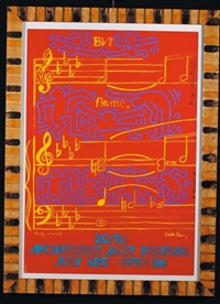 montreaux jazz festival by keith haring and andy warhol