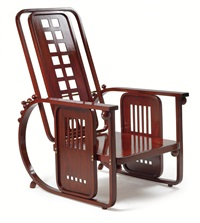adjustable arm chair (seat machine), model no. 670 by josef hoffmann