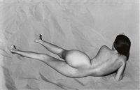 nude on sand, oceano by edward weston