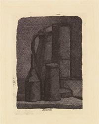 natura morta con quattro oggetti by giorgio morandi