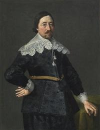 portrait of a gentleman, possibly nicholas edgar, eldest son of thomas edgar of glenham magna by thomas de keyser