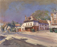 a street in the south of france by konstantin alexeievitch korovin