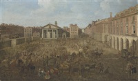 a view of covent garden piazza, london by samuel scott