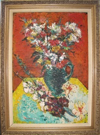 still life with vase of flowers by david nemerov