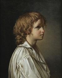 portrait de jeune homme de profil by jacques-louis david