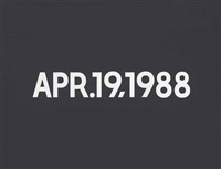 apr.19,1988 by on kawara