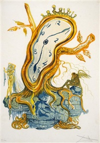 stillness of time by salvador dalí