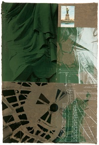 statue of liberty (from new york, new york series) by robert rauschenberg