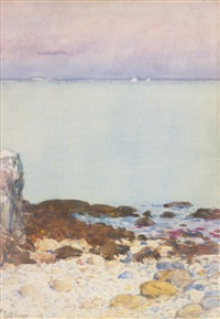 low tide, isles of shoals by childe hassam