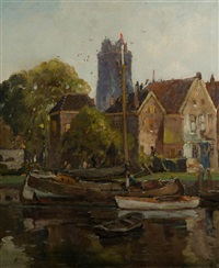 harbor scene by anthony thieme