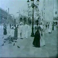 piazza san marco a venezia by romolo tessari