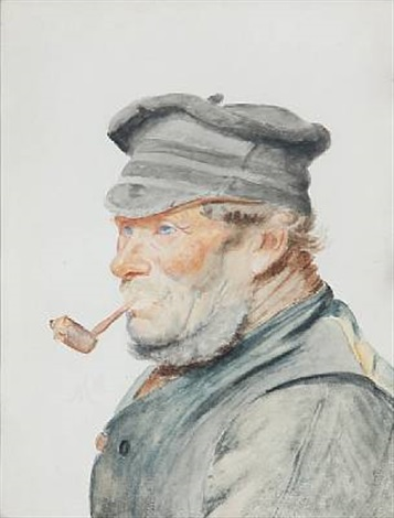 a fisherman with a pipe by michael peter ancher