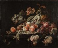 natura morta con frutta by abraham mignon