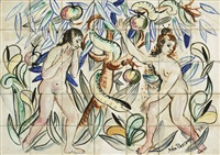 adam and eve in the garden of eden (in 35 parts) by john de burgh perceval