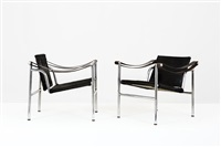 due poltrone mod. b301 by charlotte perriand