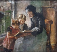 la leçon de lecture by fernand cormon