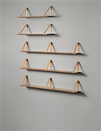 wall-mounted shelves (set of 5) by kristian solmer vedel
