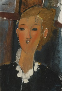 jeune femme à la collerette by amedeo modigliani