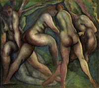 bathers by lorser feitelson