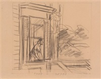 study for cape cod morning by edward hopper