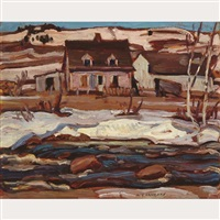 quebec farm, st. tite des caps, early spring by alexander young jackson