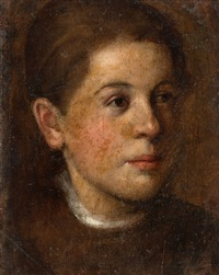 portrait of a young woman by theodor alt