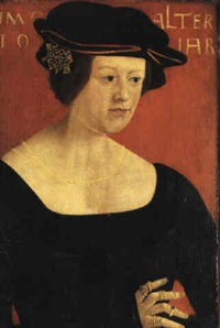 portrait of a young woman, aged 19 by hans maler