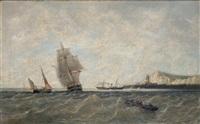 marina con barcos by raphael monleon y torres