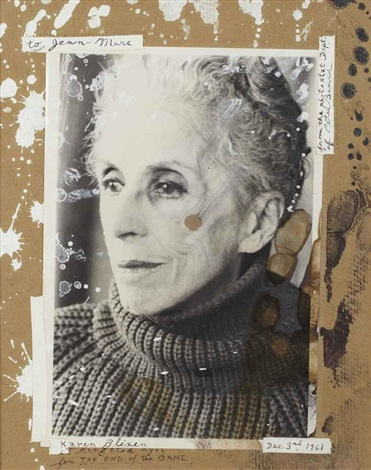 karen blixen in rungstedland for the end of the game dec 3rd by peter beard
