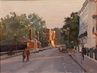 smith street; sydney street; st. leonards terrace, evening (3 works) by richard foster