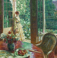 looking out, giverny by louis ritman