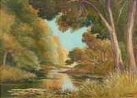 bord de rivière en automne by l. granata