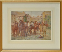 kirby stephen horse fair by john gunson atkinson