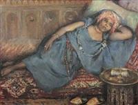 femme marocaine allongée by felipe barantes abascal