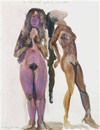 the old model meets the new model by marlene dumas