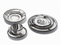 set of dinnerware objects by roy lichtenstein