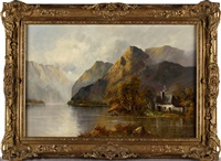 loch scenes (pair) by w. richards