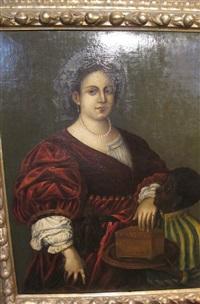 portrait de laura danti by titian (tiziano vecelli)