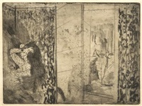 loges d'actrices (after cancellation) by edgar degas