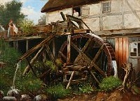 a watermill on a summer day by niels anker lund