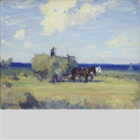 haymaking, prince edward county, ont by manly edward macdonald