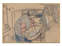 la soeur anna by marc chagall
