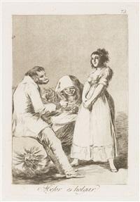 mejor es holgar, pl. 73 (from los caprichos) by francisco de goya