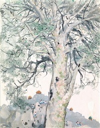 ancient pine by wu guanzhong