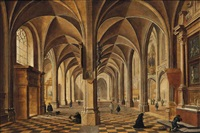the transept of a gothic church by peeter neeffs the elder