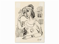 seated woman by a.r. penck