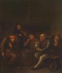 wirtshausinterieur mit fünf zechenden personen by egbert van heemskerck the elder