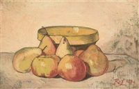 nature morte aux pommes et poires by louis georges eléonor roy
