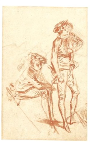 two actors by jean antoine watteau